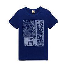 Scotch & Soda Shrunk Jungen T-Shirt Souvenir Short Sleeve Tee, Blau (Yinmn Blue 1742), 164 (Herstellergröße: 14)