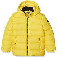 Tommy Hilfiger Jungen Jacke Ame Thkb Jacket, Gelb (Super Lemon 710), 8 Jahre (Herstellergröße: 8)
