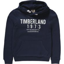 TIMBERLAND Kapuzenpullover nachtblau / weiß