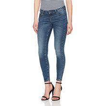 VERO MODA Damen Slim Vmfive LW SS Ankle Jeans AM057 Noos, Blau (Medium Blue Denim), W29/L30 (Herstellergröße:29.0)