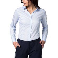 eterna Langarm Bluse Slim Fit Unifarben