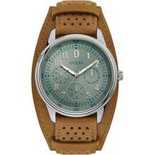 GUESS Uhr 'Terrain, W1243G1' pastellblau / braun / silber