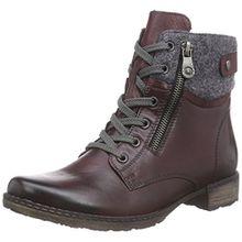 Remonte D4379, Damen Combat Boots, Rot (chianti/granit/wine/35), 37 EU (4 Damen UK)