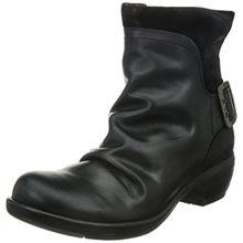 FLY London Mel P141633, Damen Biker Boots, Schwarz (BLACK 003), 41 EU (8 UK)