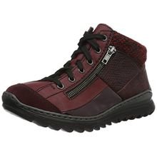 Rieker Damen M6243 High-Top Sneakers, Rot (Pomerol/Vino/Bordeaux/Bordeaux/Vinaccia/Rot-Schwar/35), 36 EU