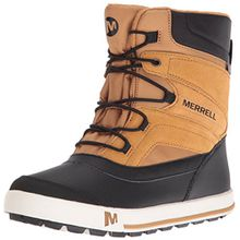 Merrell Jungen ml-b Snow Bank 2.0 Waterpoof Trekking-& Wanderstiefel, Braun (Wheat/Black), 35 EU