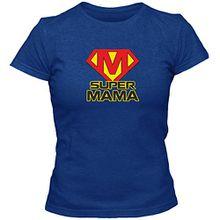 T-Shirt Geschenk Super Mama Muttertag Geburtstag (L)