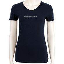 Emporio Armani Underwear Damen V-Neck T-Shirt 163321CC317, Blau (Marine 00135), Large