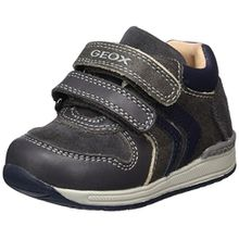 Geox Baby Jungen B Rishon Boy A Sneaker, Grau (Grey/Navy), 18 EU