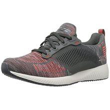 Skechers Bobs Damen Sneaker Squad Grau/Rot, Schuhgröße:EUR 39