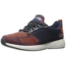 Skechers Bobs Damen Sneaker Squad Blau/Orange, Schuhgröße:EUR 38