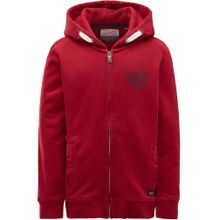 Petrol Industries Sweater basaltgrau / rot / weiß