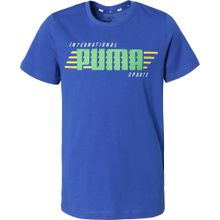 PUMA T-Shirt 'Alpha Graphic' blau / gelb / kiwi