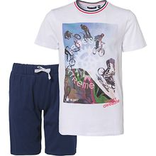 Set T-Shirt + Shorts  weiß Jungen Kinder