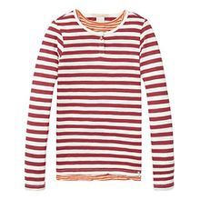 Scotch & Soda R'Belle Mädchen Two-in-One Gestreift T-Shirt, Mehrfarbig (Combo C 219), 128