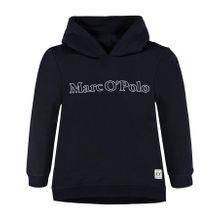 Marc O'Polo Junior Sweatshirt mit Kapuze und Retroprint für Mädchen nachtblau