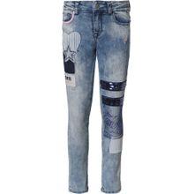 Desigual Jeans rauchblau / rosa