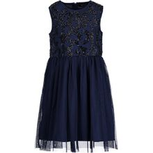 Blue Seven ärmelloses Kleid - Pailettenblumen