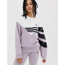 adidas Originals - Linear - Sweatshirt in Flieder und Schwarz - Violett