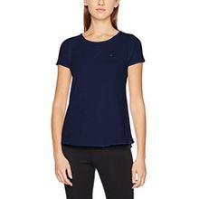 Hilfiger Denim Damen T-Shirt THDW Basic Sn Knit S/S 11, Blau (Dress Blues 418), Medium