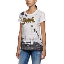 Replay Damen T-Shirt W3832B.000.20760P, Weiß (Optical White 1), Large