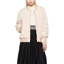 Vila CLOTHES Damen Jacke Viconco Bomber Jacket, Rosa (Rose Dust Detail:Rose Gold Trim), 38 (M)