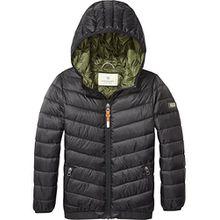 Scotch & Soda Shrunk Jungen Jacke Basic Puffer Jacket, Schwarz (Black 008), 152 (Herstellergröße: 12)