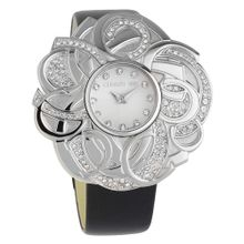 CERRUTI Armbanduhr in Blüten-Design 'CRWM041B2120' schwarz / silber
