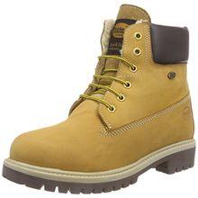 Dockers by Gerli 35FN710-300910, Unisex-Kinder Combat Boots, Gelb (Golden Tan 910), 37 EU