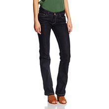Cross Jeans Damen Hose Laura, Blau (Rinsed 444), W32/L34 (Herstellergröße: 32)