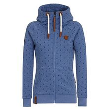 Naketano Female Zipped Jacket Brazzo Ankerdizzel III Blue Melange, L