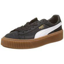 Puma Damen Basket Platform Perf Gum Sneaker, Schwarz Black-White-Gold, 37.5 EU