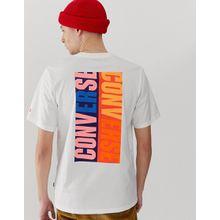 Converse - Pop - T-Shirt mit Logo und Print auf der Rückseite - Weiß