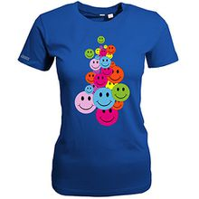 BUNTER SMILEY HAUFEN - Royalblau - WOMEN T-SHIRT by Jayess Gr. XL