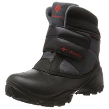 Columbia Unisex-Kinder Youth Rope Tow Kruser Schneestiefel, Schwarz (Graphite, Bright Red 053), 35 EU