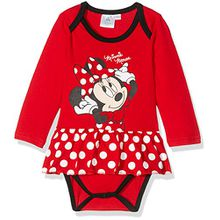 Disney Baby-Mädchen Formender Body 160604, Rouge (Racing Red 19-1763tcx/White/Black), 62