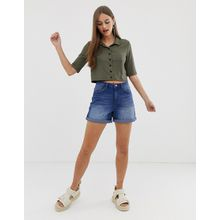 Noisy May - Mom-Shorts aus Denim - Blau