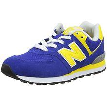 New Balance Unisex-Kinder Pc574v1 Sneaker, Blau (Blue/Yellow), 32 EU