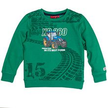 SALT AND PEPPER Jungen Sweatshirt Sweat Farm Work XR, Grün (Green Melange 678), 92