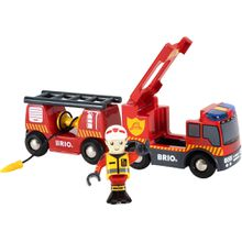 BRIO Feuerwehr-Leiterfahrzeug mit Licht & Sound