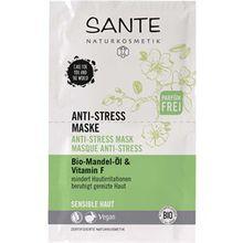 Sante Naturkosmetik Pflege Gesichtspflege Bio-Mandel-Öl & Vitamin F Anti-Stress Maske 8 ml
