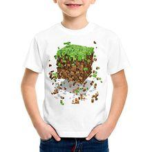 A.N.T. Exploding Cube T-Shirt für Kinder block würfel spiel game, Größe:152