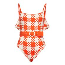 Solid & Striped Swimsuit The Belted Nina in Lipstick Gingham