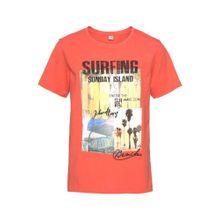 BENCH T-Shirt 'Surfing' mischfarben / orangerot