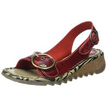 FLY London Damen Tram723fly Slingback Sandalen, Rot (Red), 42 EU