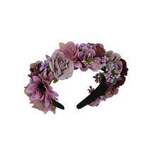 Trachten Blumenkranz Haarreif Blumen Haare Haarband Haarschmuck Hochzeit Oktoberfest - Violett/Beere