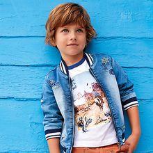 T-Shirt mit Wüstenprint  weiß Jungen Kleinkinder