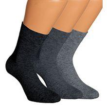 Vitasox 13308 Damen Wellness Socken Damensocken Baumwolle mit Frotteesohle einfarbig ohne Gummi jeans 6er Pack 35/38