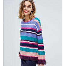 Esprit - Übergroßer, bunt gestreifter Pullover - Mehrfarbig