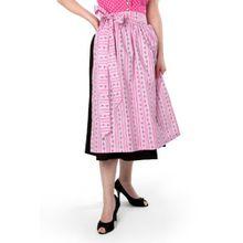 trachtige Dirndlschürze pink Baumwolle Trachtenschürze, 69 cm, Midi Schürze, Trachtenmode für Damen,Evi